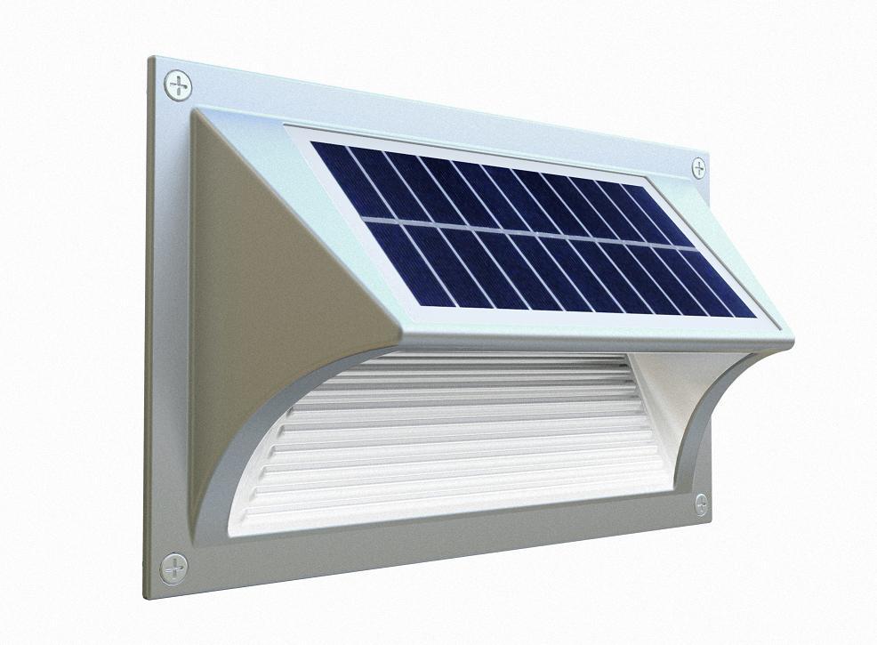 Luminaria solar pared c lida en santiago chile - Iluminacion solar exterior ...